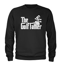 The Golf Father Golfing Dad  Adult Crewneck Sweatshirt