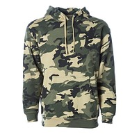 Forest Camo Heavyweight Fleece Pull Over
