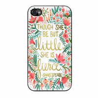 Red Flowers Though She Be But Little She Is iPhone 4 Case
