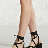 Strappy Ankle-Wrap Heels