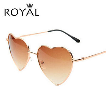 Heart Shaped Sunglasses Metal Wrap Sun Glasses Lovely oculos sol SS036
