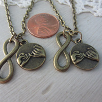 Best Friends Infinity Pinky Promise Necklaces