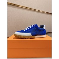HERMES2021 Men Fashion Boots fashionable Casual leather Breathable Sneakers Running Shoes06160cx