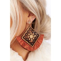 You'll Be Coming Back Earrings (Coral)