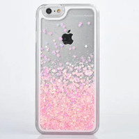 For IPhone 5s Case Transparent Hard PC Cover Dynamic Liquid Glitter Sand 3D Stars Back Case Cover Capa Para for Apple IPhone 5