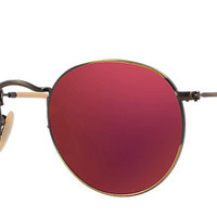 Ray-Ban RB3447 167/2K 50-21 ROUND FLASH LENSES Bronze-Copper sunglasses | Official Online Store US