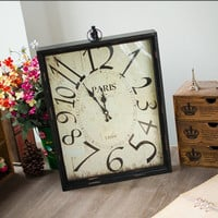 Home Decor Vintage Wooden Accessory Gifts Clock [6282928582]