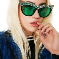 Emerald Nefertiti Sunglasses