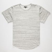 Elwood Stripe Knit Curved Hem Mens T-Shirt Gray  In Sizes
