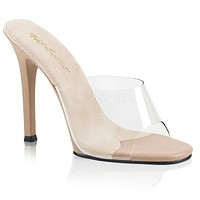 "Gala 101 Clear Upper Slide 4.5"" Heel Nude"