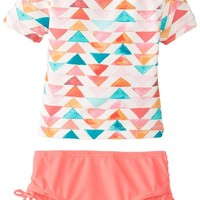 Osh Kosh Baby Girls' Girls' Rash Guard Swim Set with Multi Color Top, Pink, 12 Months