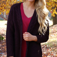 Once In A Cardigan-Black