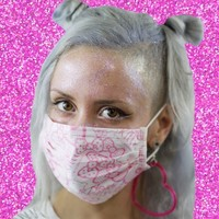 Hello Kitty Face Mask from ☯ harajuku alien ☯