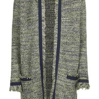 Tweedy Knit Cardigan - Green