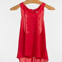 BKE red Trapeze Tank Top