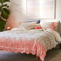 Emma Embroidered Duvet Cover - Urban Outfitters