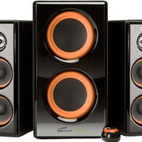 Arion Legacy AR506 AC Powered Speaker System with Dual Subwoofers & Desktop Controller for MP3, PC, Game Console & HDTV 100 Watts Piano Black Retail Pack