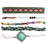 Dainty Bohemian Bracelet Set | Wet Seal