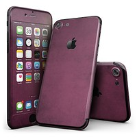 Grungy Burgundy  - 4-Piece Skin Kit for the iPhone 7 or 7 Plus