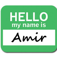 Amir Hello My Name Is Mouse Pad