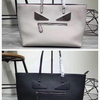 FENDI pattern 8BH198-00G87/F0QT2 Leather Tote Bag