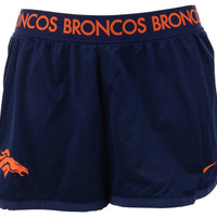 Denver Broncos NFL Womens Ultimate Mesh Short