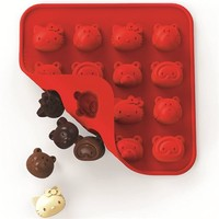 red Hello Kitty and friends silicone chocolate mold - Bento Accessories - Bento Boxes