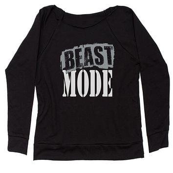 Beast Mode Training Slouchy Off Shoulder Oversized Sweatshirt