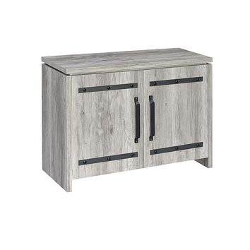 G950785 - 2-Door Accent Cabinet or Tall Cabinet - Grey Driftwood