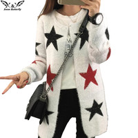 2016 high quality fall and winter Female cardigan sweater Knitted Cotton O-Neck fashion cardigans women  women's sweaters