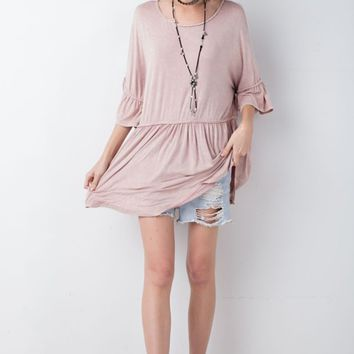 Soft Oversized Mineral Washed Tunic