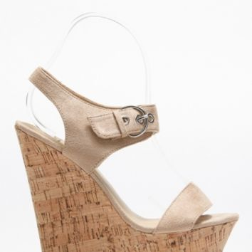Suede Cork Wedge @ Cicihot Wedges Shoes Store:Wedge Shoes,Wedge Boots,Wedge Heels,Wedge Sandals,Dress Shoes,Summer Shoes,Spring Shoes,Prom Shoes,Women's Wedge Shoes,Wedge Platforms Shoes,floral wedges
