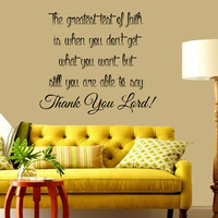 Bible Verses Wall Decal Quote Faith Thank You Lord Vinyl Stickers Home Bedroom Decal Interior Design Living Room Decor Art Murals KI156