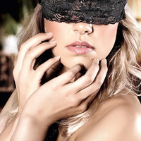 Lacy Black Blindfold