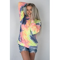 Neon Tie Dye Long Sleeve Top (S-XL)