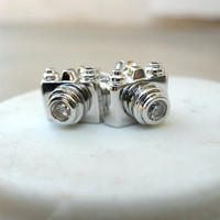 Click, Click Camera Studs [2510] - $9.00 : Vintage Inspired Clothing & Affordable Fall Frocks, deloom | Modern. Vintage. Crafted.