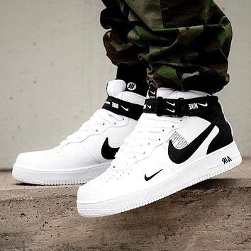 Nike Air Force 1 Mid 07 Tide Brand Simple Version Ow High-top Sports Shoes