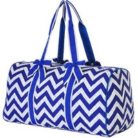 "Quilted Chevron Print 21"" Duffle Bag (Royal)"