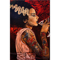Lowbrow Art Company Bride Cocktail Art Print by Artist Mike Bell