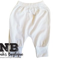 Noah's Boytique Baby Boy White Pants