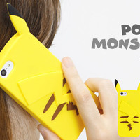 Strapya World : Pokemon Die Cut Silicon Jacket for iPhone 5c (Pikachu)