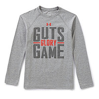 Under Armour 8-20 Guts Glory Game Long-Sleeve Tee - True Grey Heather/