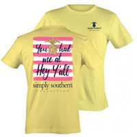 "Simply Southern ""Hey Y'all"" Tee - Yellow"