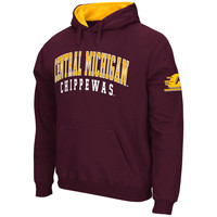 Stadium Athletic Central Michigan Chippewas Maroon Double Arches Pullover Hoodie