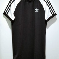 adidas Originals adicolor Three Stripe Raglan Dress In Black