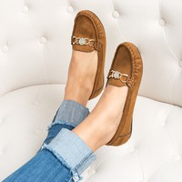 Yale Loafer Flats - Tan