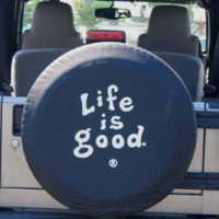 """Life is good Tire Cover, """"Coin"""""""