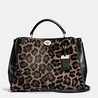 GRAMERCY SATCHEL IN PRINTED HAIRCALF