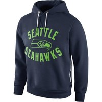 Nike Seattle Seahawks Washed Pullover Hoodie - College Navy