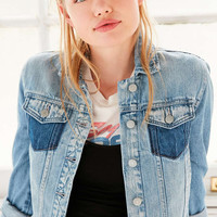 Silence + Noise Deconstructed Denim Trucker Jacket - Urban Outfitters